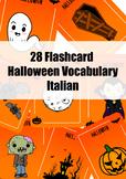28 Flashcard Halloween vocabulary in Italian