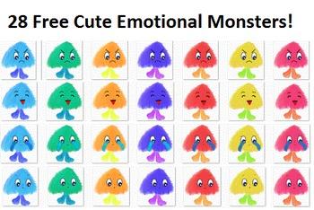 28 Free Cute Emotional Monsters Clip Art
