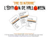 A deck of French cards for a Halloween game like Taboo®