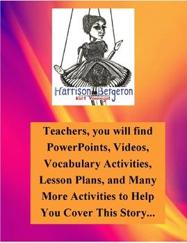 Harrison Bergerson by Kurt Vonnegut Teacher Supplemental Resources Fun Engaging