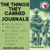 28 Journal Prompts for The The Things They Carried / Print