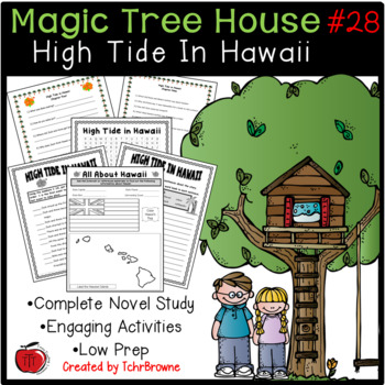 28 Magic Tree House High Tide In Hawaii Novel Study By Tchrbrowne