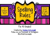28 Most Common Spelling Rules Posters/Cards