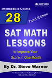 28 SAT Math Lessons to Improve Your Score in One Month - Intermediate Course