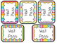 28 Printable Bright Rainbow Colors Hall Passes. Classroom  Management.