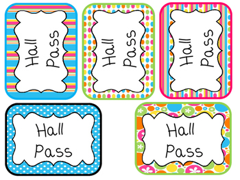 picture relating to Hall Passes Printable called 28 Printable Brilliant Rainbow Colours Corridor Pes. Clroom Manage.