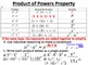 28) Properties of Exponents - Multiplying, Power to Power, Division PPT