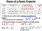28) Properties of Exponents - PPT Lesson & Scaffolded Notes