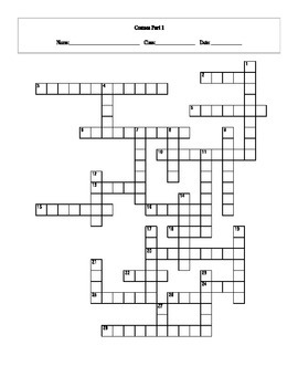 28 Question Cosmos: A Spacetime Odyssey Episode 1 Crossword with Key