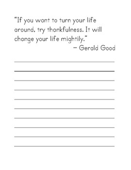 28 Quotes About Gratitude Print Handwriting Copy Work