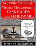28 Scientific Method & Metric Measurement Stations using hardware;  EDITABLE
