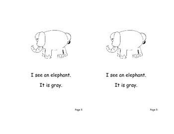 28 Sight word readers for Kindergarten