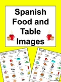 Spanish Food Vocabulary / Table Vocabulary IDs - La Comida y la Mesa