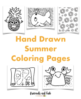 End of the Year Coloring Pages & Printables - Classroom Doodles | 350x284