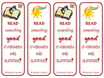 28 Summer Reading Reminder Bookmarks