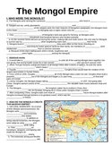 WORLD UNIT 5 LESSON 3. The Mongol Empire GUIDED NOTES