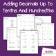 Adding Decimals Up To Tenths And Hundredths Worksheets