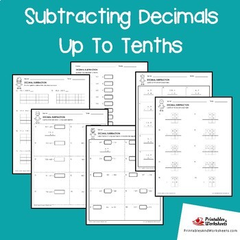 Subtracting Decimals To The Tenths Worksheets