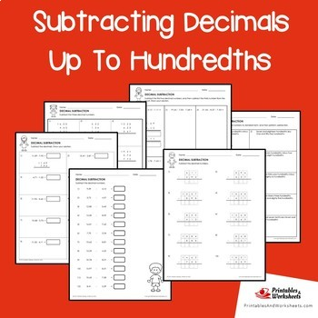 Subtracting Decimals Up To Hundredths