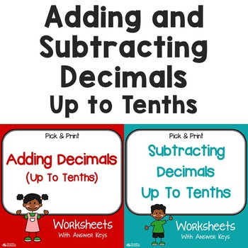 Adding And Subtracting Decimals Tenths