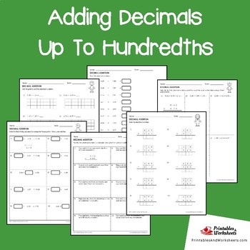 Adding And Subtracting Decimals Hundredths
