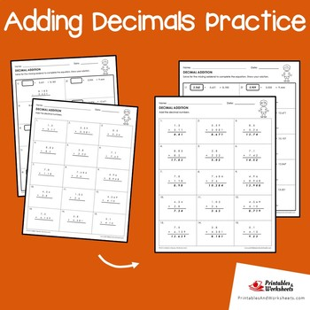Adding Decimals Review Worksheets, Adding Decimals Extension Activities
