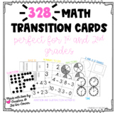 328 Math Transition Flash Cards (Counting, Subitizing, Fra