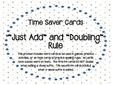 288 Time Saver Word Cards - Just Add and Doubling Spelling Rules