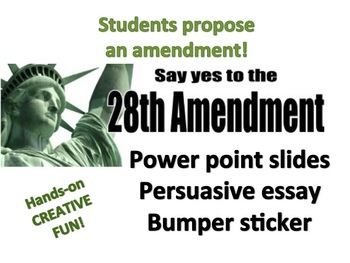 28th Amendment!  Student propose and promote!