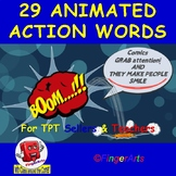29 ANIMATED COMIC ACTION WORDS BY COMIC TOONS for TPT Sell