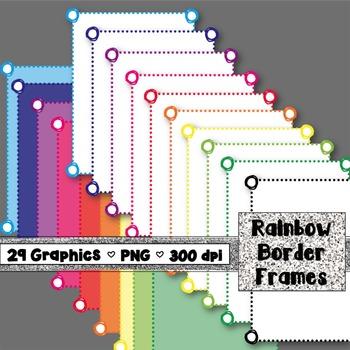 Color Doodle Border Frames - Rainbow