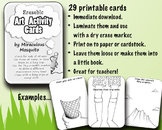 29 Erasable Art Activity Cards