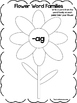 29 Flower Word Families Worksheets. Preschool and Kindergarten Word Families.