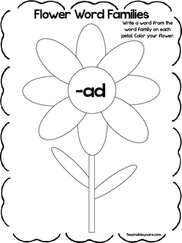 Word Family Worksheets Kindergarten Teachers Pay Teachers