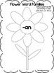 29 Flower Word Families Worksheets. Preschool and Kinderga