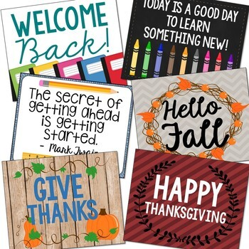 Holiday Posters for the Entire Year, Christmas, Halloween, Back to School