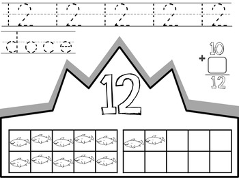 Numbers 1-20 & Shape Recognition Crowns / Coronas de los numeros y las figuras