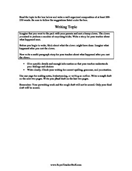 29 Writing Prompts with Guided Writing Checklist