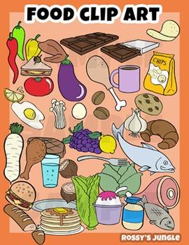 291 image files - Food Clip art set
