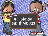 295 Fourth Grade Sight Words