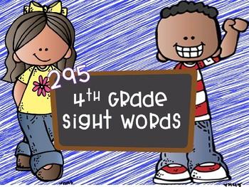 295 Fourth Grade Sight Words