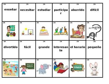 2A Realidades Level 1A - Memory/Go Fish Board