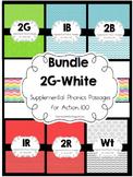 128 Phonics and Fluency Passages Bundle of 2G-Wt Action 100
