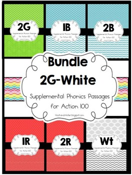 128 Phonics and Fluency Passages Bundle of 2G-Wt Action 100