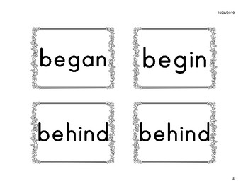 2B Power Word Cards (fit Pocket Charts) - American Reading Company (ARC) aligned