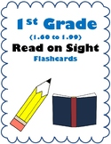 1st Grade 1.60-1.99 Read on Sight Cards (Aligned to American Reading Co IRLA)