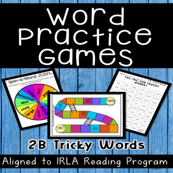 2B Tricky Words TONS of Games! Aligned to ARC and IRLA