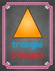 2D & 3D Bilingual Shape Posters {Chalkboard Theme}