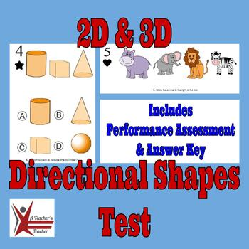 2D & 3D Position and Direction Shapes Test