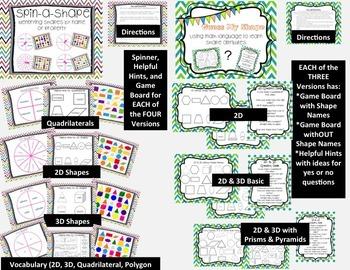 2D & 3D Shapes Game Bundle